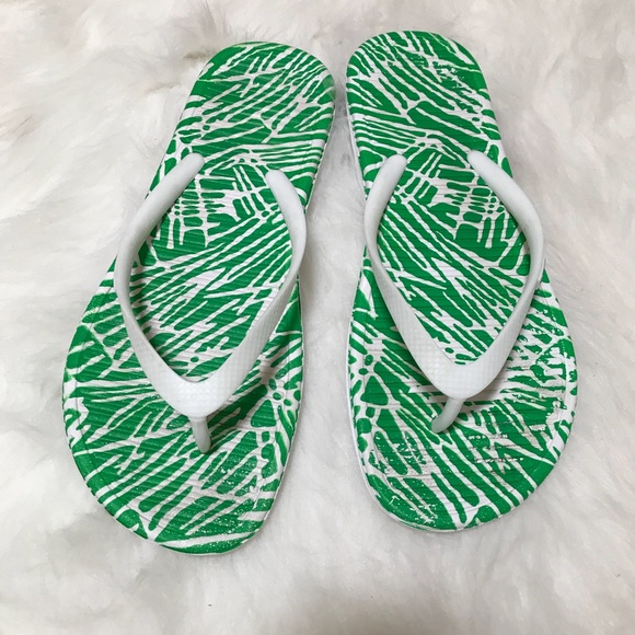 c3bac76d9a366 Nike Solarsoft Thong 2 print Green White Stripes